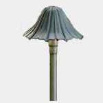 SEA TURTLE FRIENDLY - FWC APPROVED - 15314MST KICHLER LANDSCAPE LIGHTING LEAF STYLE SINGLE HAT PATHWAY LIGHTING FIXTURE
