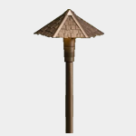 SEA TURTLE FRIENDLY - FWC APPROVED - 15401AZT KICHLER BRASS LANDSCAPE LIGHTING SHINGLE ROOF SINGLE HAT PATHWAY LIGHTING FIXTURE