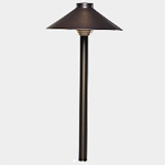 SEA TURTLE FRIENDLY - FWC APPROVED - PSH075-AB SOLLOS LANDSCAPE LIGHTING 7 INCH SINGLE HAT PATHWAY LIGHTING FIXTURE