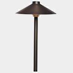 SEA TURTLE FRIENDLY - FWC APPROVED - PSH090-AB SOLLOS LANDSCAPE LIGHTING 9 INCH SINGLE HAT PATHWAY LIGHTING FIXTURE