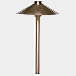 SEA TURTLE FRIENDLY - FWC APPROVED - PSH090-BR SOLLOS LANDSCAPE LIGHTING 9 INCH SINGLE HAT PATHWAY LIGHTING FIXTURE