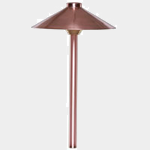 SEA TURTLE FRIENDLY - FWC APPROVED - PSH090-CU SOLLOS LANDSCAPE LIGHTING 9 INCH SINGLE HAT PATHWAY LIGHTING FIXTURE