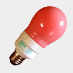 SEA TURTLE LIGHT BULB - FWC APPROVED 15 WATT RED A19 CFL BULB