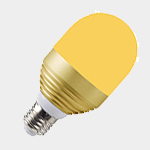 SEA TURTLE LIGHT BULB - FWC APPROVED 3 WATT AMBERLUX LED BULB