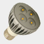 SEA TURTLE LIGHT BULB - FWC APPROVED 6 WATT AMBER PAR20 LED BULB