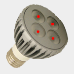 SEA TURTLE LIGHT BULB - FWC APPROVED 6 WATT RED PAR20 LED BULB