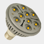 SEA TURTLE LIGHT BULB - FWC APPROVED 9 WATT AMBER PAR38 LED BULB