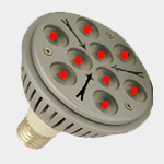 SEA TURTLE LIGHT BULB - FWC APPROVED 9 WATT RED PAR38 LED BULB